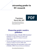 Mainstreaming Gender Eu Research
