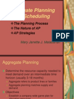 Aggregate Planning & Scheduling