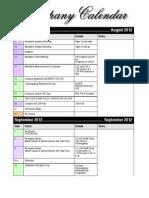 Company Calendar 2012-13