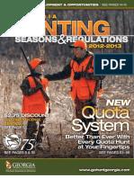 2012 - 2013 Ga Hunting Regulations