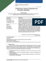 Secrecy and Performance Analysis of Symmetric Key  Encryption Algorithms