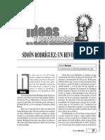 """articulo """"vida de Simón Rodriguez"""""""