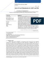 Performance Analysis of Load Minimization In AODV and FSR