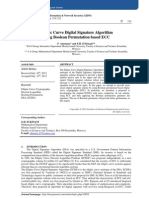Elliptic Curve Digital Signature Algorithm  Using Boolean Permutation based ECC