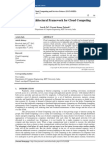 Efficient Architectural Framework for Cloud Computing