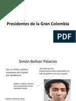 Presidentes de La Gran Colombia