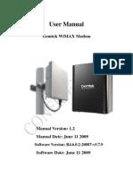 Gemtek IDU ODU WEB-UI User Manual v1.2