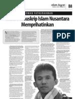 Nasib Manuskrip Islam Nusantara Memprihatinkan