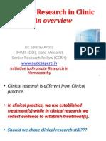 Clinical Researh in Clinics