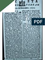 CursoDeLadino.com.ar - Gazeta de Amsterdam 1672 - Sept 12th