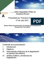 Photovoltaic Degradation Rates
