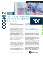 How a Global Manufacturer Successfully Enhanced its Pricing Structure in Four Critical Steps