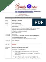 Tentative Programme WCOMLIS 2011