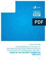 Developments In The Field Of Information And Telecommunication In The Context Of International Security