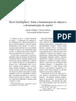 Devir (in)Orgânico_Entre a humanização do objecto e a desumanização do sujeito