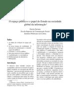 O espaço público e o papel do Estado na sociedade global da informação