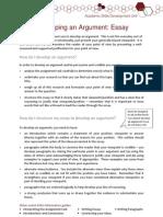 Developing an Argument - Essay