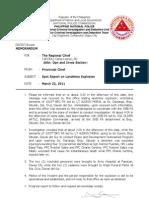 Spot Report - Landmine Explosion