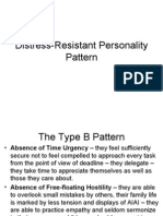 Distress-Resistant Personality Patterns
