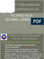 Filipino Global Language