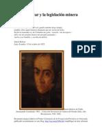 Simón Bolívar y la legislación minera