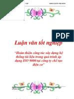 Hoan Thien Cong Tac Xay Dung He Thong Tai Lieu Trong Qua Trinh AP Dung Iso 9000 Tai Cong Ty Che Tao Dien Co 9357