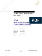 SEHA Service Procurement User Guide