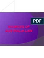 sources of australia law