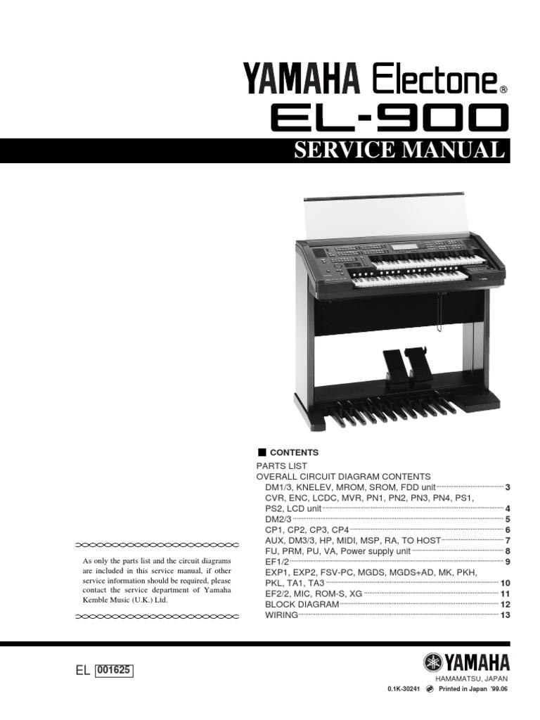 El900gbr Midi Keyboard Wiring Diagram