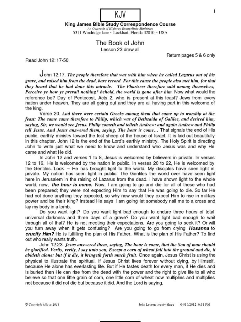 John 23 Draw All | Gospel Of John | Last Judgment