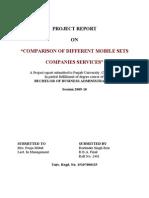 Comparison of Different Mobile Sets Companies Services