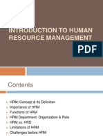 Intro HRM