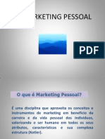 Apresentação sobre Marketing Pessoal