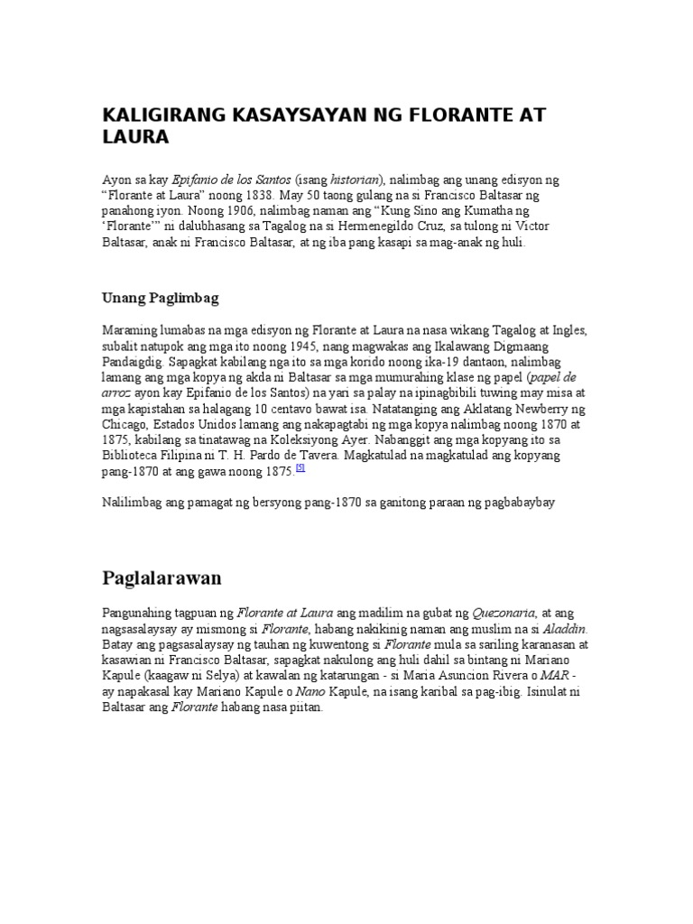 book report ng florante at laura Amazing job :) i'll be very happy, if you'll appreciate my projects too thanks    see more comments.