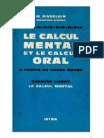 Mathématiques Classiques Calcul Mental et Calcul Oral (Livret 1 et 2) Madelain 1963
