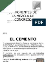 Componentes de La Mezcla de concreto