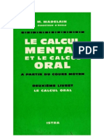 Mathématiques Classiques Calcul Oral Livret 2 Madelain 1963