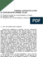 ENTREVISTA CONCEDIDA A DIALÉCTICA POR  EL HISTORIADOR PIERRE VILAR