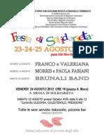 Estate 2012 - Festa Solidarietà Bagnolo Cremasco