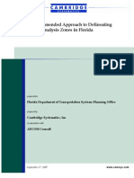 A Recommended Approach to Delineating Traffic Analysis Zones in Florida