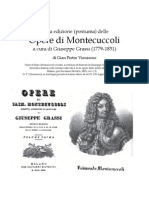 1832 VIEUSSEUX. On Montecuccoli's Works, newly Edited by Giuseppe Grassi (1779-1831)