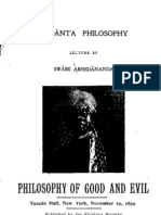 Philosophy of Good and Evil, by Swami Abhedananda