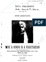 Why a Hindu is a Vegetarian? - by Swami Abhedananda