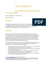 Local Authority Health Scrutiny Proposals for Consultation