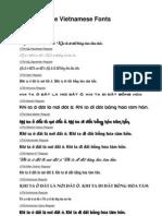 Mẫu font tiếng Việt Unicode UTM - UTM Unicode Vietnamese Fonts Sample