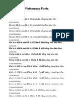 Mẫu font tiếng Việt Unicode VU - VU Unicode Vietnamese Fonts Sample