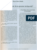 Michael Foucault de La Episteme Al Dispositif