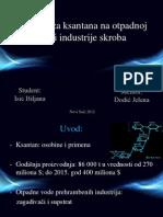 Biosinteza Ksantana Na Otpadnoj Vodi Industrije Skroba