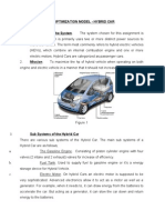 Optimization Model - Hybrid Car