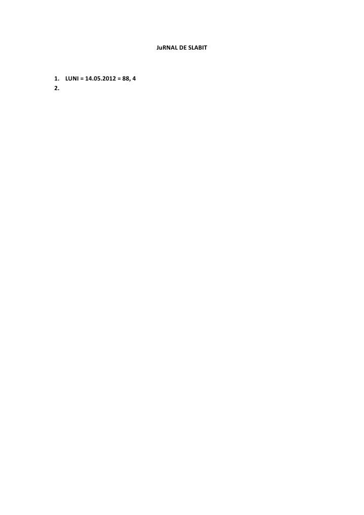 jurnal de slabit blog